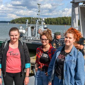 Sara Kuurberg, Henrika Westerholm, Alina Fredriksson.