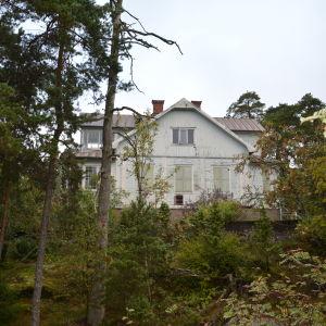 Villa Kolkka på Runsala i Åbo, sedd från havet.