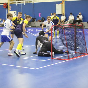 Suomi ja Ruotsi kohtasivat salibandymaaottelussa 13. elokuuta.