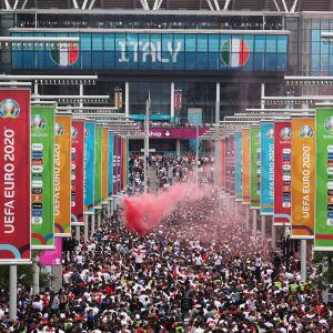 Wembley EM-finaali, fanit
