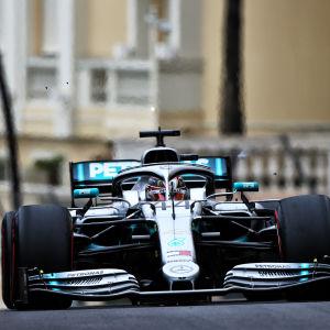 Lewis Hamilton i farten.