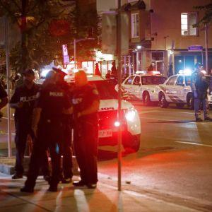 Bild från händelseplatsen i Toronto.