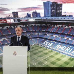 Real Madrids president Florentino Perez.