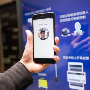 Mobiltelefon med ansiktsigenkänning