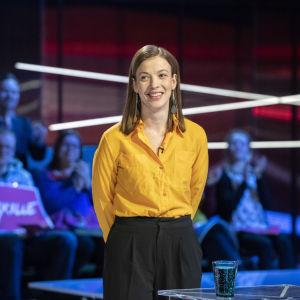 Li Andersson på Yles Valtent 27.03.2019 inför riksdagsvalet 2019.