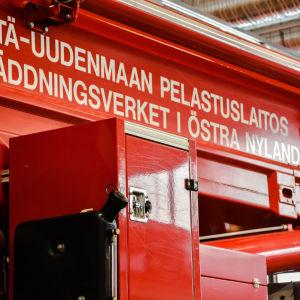 Östra Nylands Räddningsverks kranbil