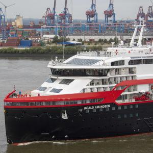 Fören på fartyget MS Roald Amundsen.