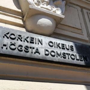Korkein oikeus Helsingissä.