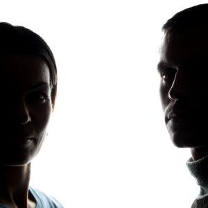 Två silutter. En man och en kvinna.