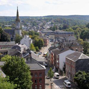 Bild på staden Eupen i tyskspråkiga Belgien.