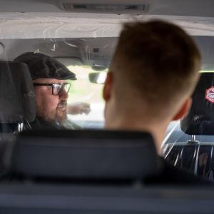 Koronasuojattu taksi, itsenäinen taksiyrittäjä Harri Mustonen, Taksi Helsinki, Helsinki, 5.8.2020.