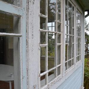 Utsikt från verandan på Villa Kolkka på Runsala mot Erstan.
