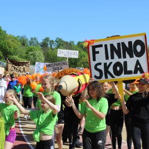 Finno skola, Stafettkarnevalen 2018.
