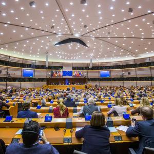 EU-parlamentin istunto Brysselissä 2017