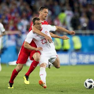 Xherdan Shaqiri avgjorde matchen mot Serbien.