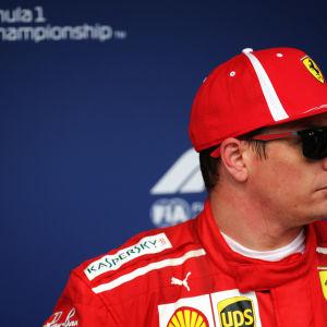 Kimi Räikkönen kör för Ferrari.