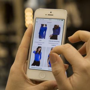 Zalando matkapuhelinsovellus / Vaatteiden suunnittelu
