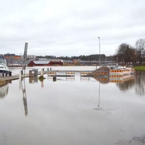 Översvämning vid Borgå å.