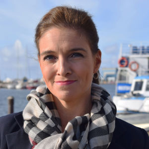 Ira Hammerman vid havet i Eira, Helsingfors 1.10.2018.