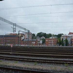 Bangården i Åbo.