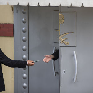 Saudiarabiens konsulat i Istanbul, Turkiet. Hit leder spåren efter den döde saudiske journalisten Jamal Khashoggi.