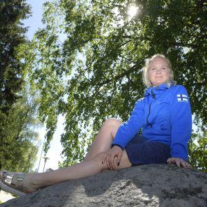 Titta Heikkilä i Lojo i maj 2018.