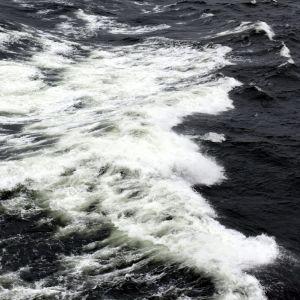 Sjögång som fotograferats från Viking XPRS den 2 januari 2019