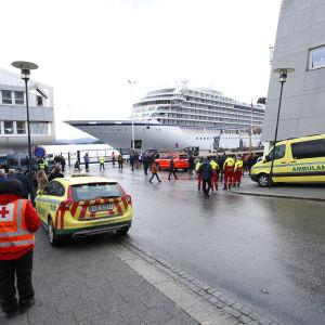 Fartyget Viking Sky har anlänt till hamnen i Molde