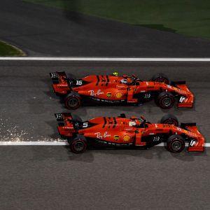 Vettel och Leclerc i Bahrains Grand Prix.