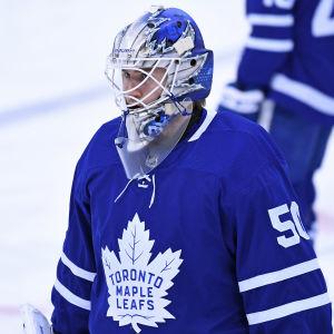 Kasimir Kaskisuo var reservmålvakt för Toronto Maple Leafs i januari.