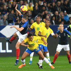 Frankrike slog Brasilien i en träningsmatch i november 2018 med 3–1.