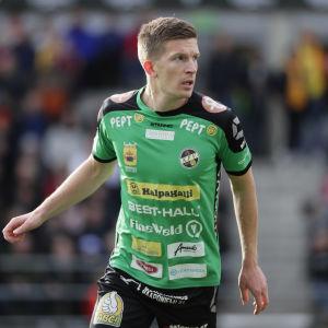 Arkivbild på Kalle Multanen som förra säsongen representerade KPV.