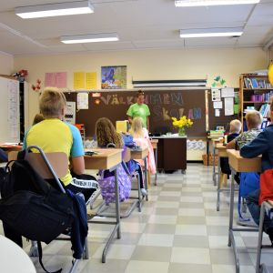 Klassrummet i Lappvik skola i Hangö.