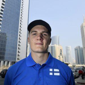 Oliver Helander under VM i Doha