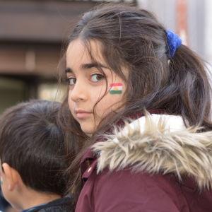 Liten kurdisk flicka