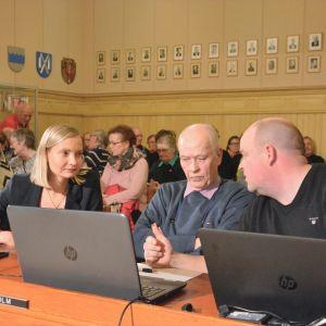 Catharina Skur, Aarno Lindholm och Johan Bärnlund