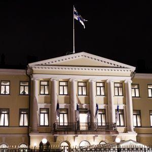 Presidentens slott i Helsingfors på självständighetsdagen den 6 december 2018.
