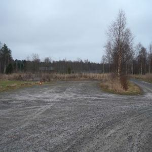 Det byggs nya hus på Ingåstrand våren 2021. De första byggs på sandplanen innan man går till tennis- och isplanerna.