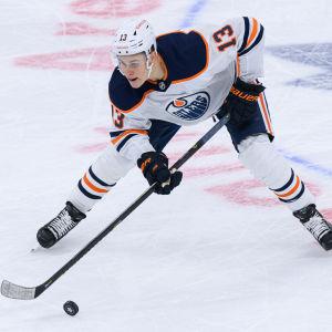 Jesse Puljujärvi är tillbaka i Edmonton efter en paus på ett och ett halvt år.