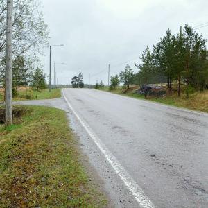 väg i landsbygd