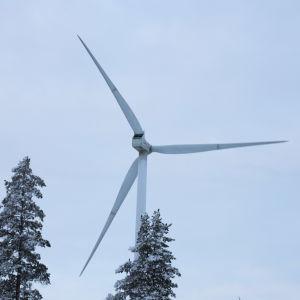Tornion Kitkiäisvaarassa yksi tuulivoimala
