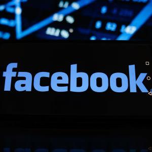 Facebook-logo i telefon.