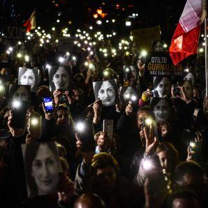 Protester på Malta.