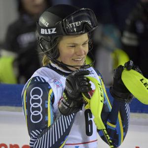 Anna Swenn-Larsson från Sverige hade gått för en pallplacering i Levi.