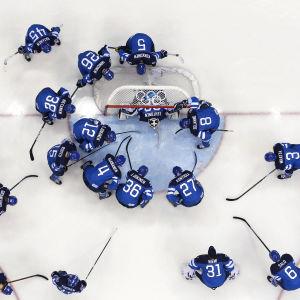 Finlands herrlandslag i OS i Sotji 2014.