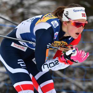 Ingvild Flugstad Östberg åker skidor.