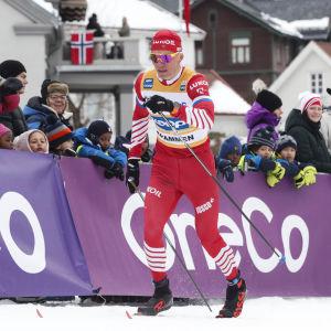 Aleksandr Bolsjunov hade åkt klart innan finalpasset på allvar kommit igång.