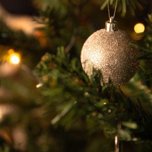 En julgranskula i en julgran.