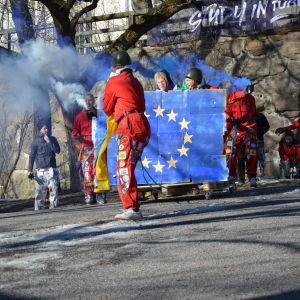 fastlaskiainen i åbo 2019 - EU-flaggan