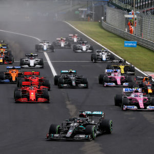 Formel 1-starten i Ungern.